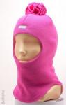 """Шапка-шлем для девочки """"Помпон"""" (весна/осень)"""