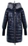 05-1389 Куртка зимняя Плащевка Темно-синий