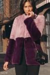 Двухцветная шуба Gepur