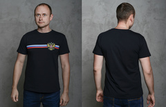 "Футболка Мужская 2202 ""Герб"" Черная"