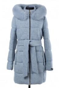 Пальто женское утепленное (пояс) Букле/Рогожка