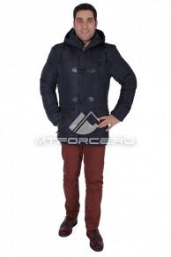 Куртка зимняя мужская темно-синего цвета 0110TS