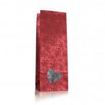 """Пакет для чая 250 гр. с окошком, подарочный """"Сердце"""", красны"""