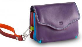 Кожаная мини-сумочка DuDu серии Bioko | фиолетовый пэчворк