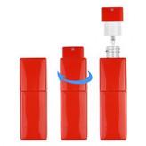 HB (10 мл) твист квадрат-пластик (красный)