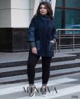 Пальто №709-Синий