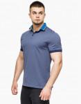Удобная футболка поло Braggart цвет джинс модель 6285