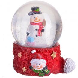"Водный шар маленбкий ""Дед мороз"" 5см (х192)"