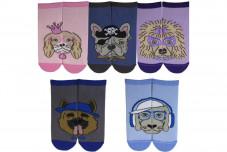 """Детские/подростковые укороченные носки """"Собачки"""""""