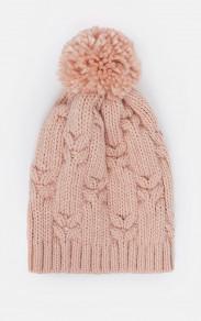 Теплая шерстяная шапка с помпоном MR 226 2741 0818 Rose