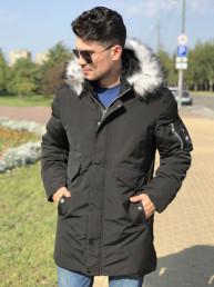 Мужская куртка Е82521-1 черная