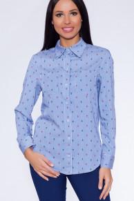 26921 Рубашка Синий