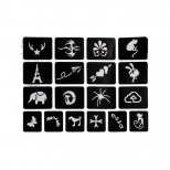 Набор трафаретов stencil tattoo (5 штук)
