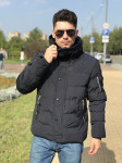 Мужская куртка Е82537-3 темно-синяя