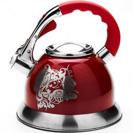 23582 Чайник мет 2,7л со свистком красный MAYER&BOCH