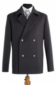 Пальто мужское демисезонное (Рост 176) Кашемир Темно-серый