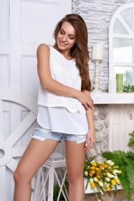 """Блуза """"Анет"""" (белый)"""