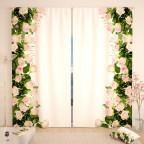 Фотошторы Объятие белых роз Габардин
