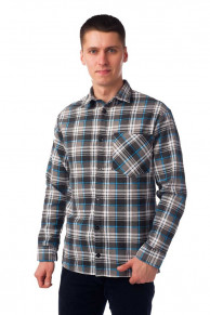 Мужская рубашка Фланель, 1 карман, рост 170-176