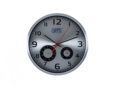 9413 GIPFEL Часы настенные с термометром и гигрометром, 30см