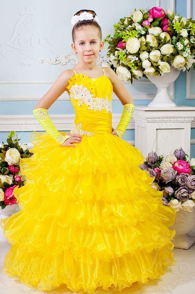 Желтое платье на выпускной 4 класс