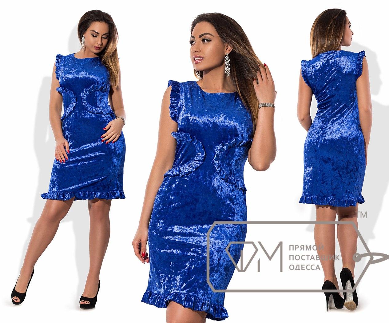 Платья из велюра модных