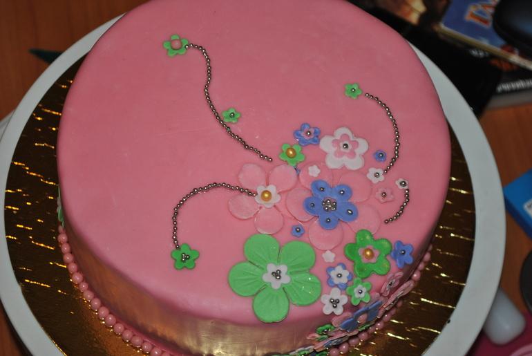 Первый мастичный торт