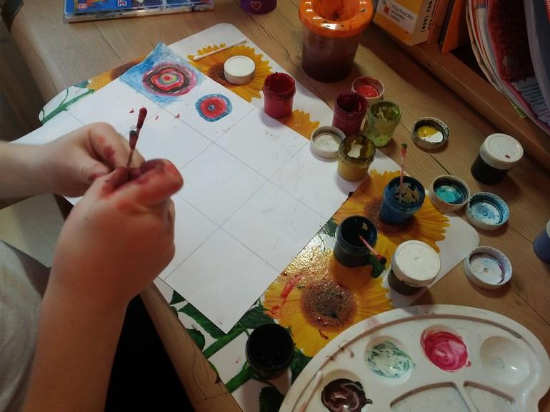Рисование ватными палочкамм