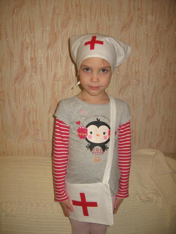 Костюм медсестры для девочки своими руками в детский сад 25