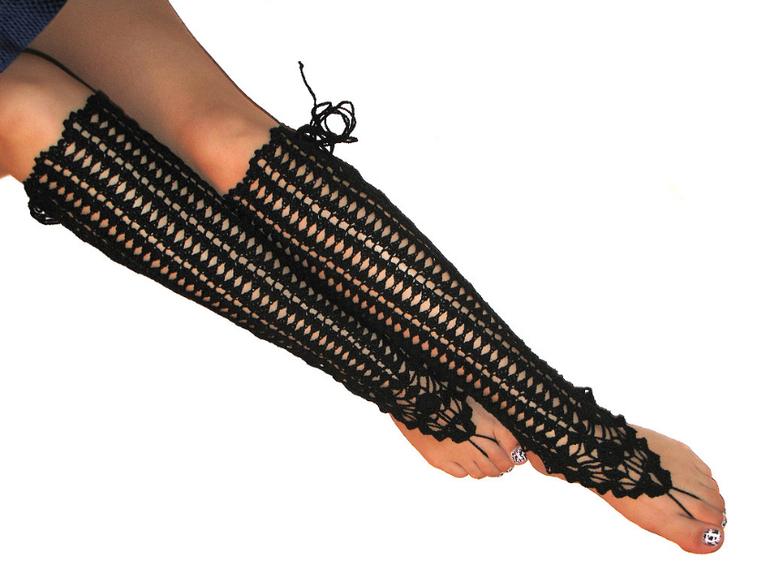 гетры с боковой шнуровкой.