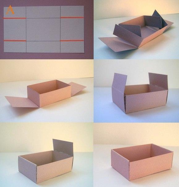 Как сделать коробку из картона своими руками с крышкой видео или схема
