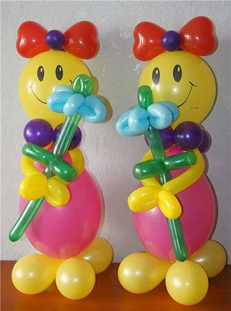 Фигуры из воздушных шаров круглых пошаговое фото