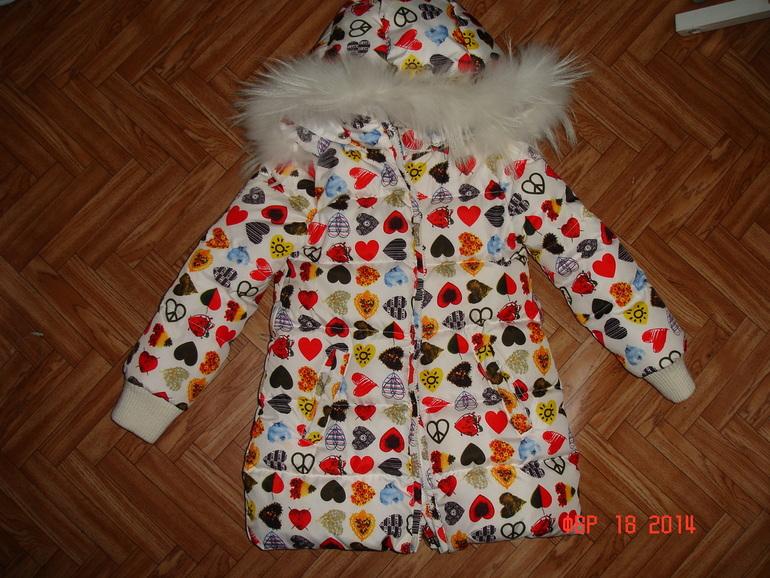 Пакет  верхней  одежды  для  девочки,  рост  104-110.  Новое  и  б/у