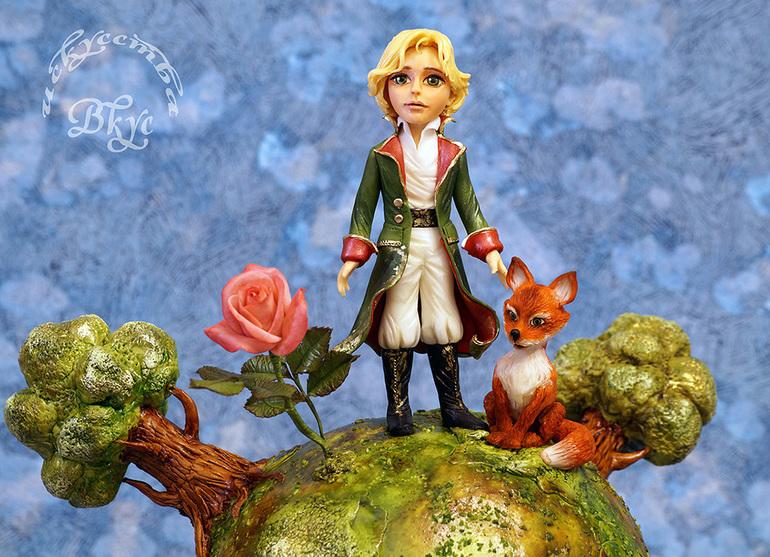 Поделки розы из маленького принца 14