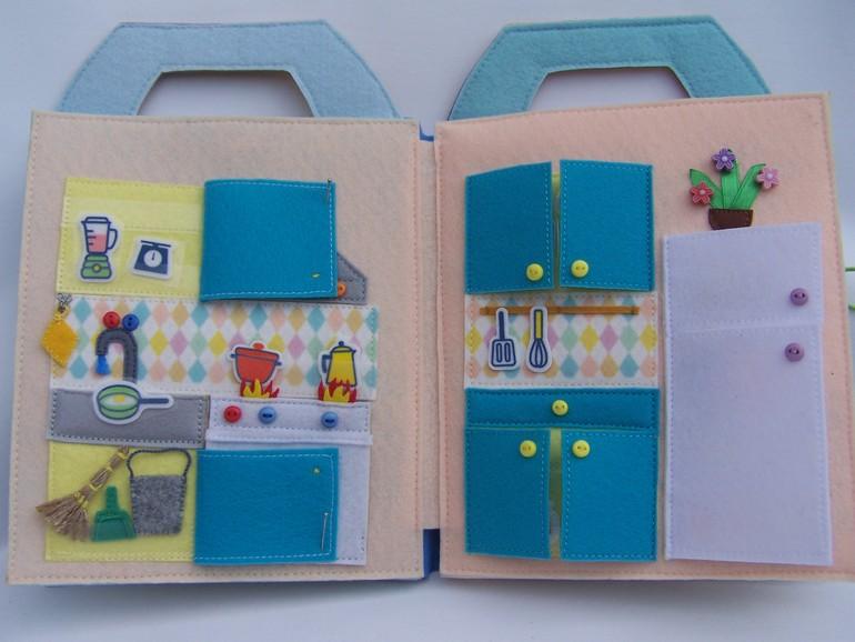 Книжки из фетра своими руками кукольный домик