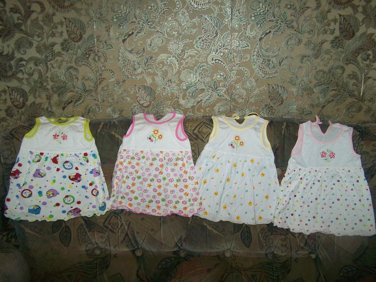 Платья 0-2 года 140 руб