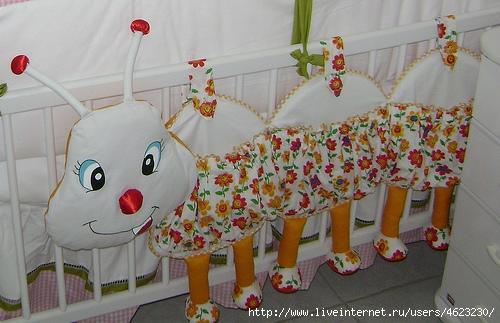 Как сшить кармашки в детскую кроватку своими руками