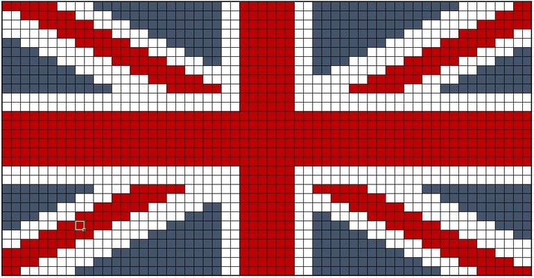 Английский флаг вышивка