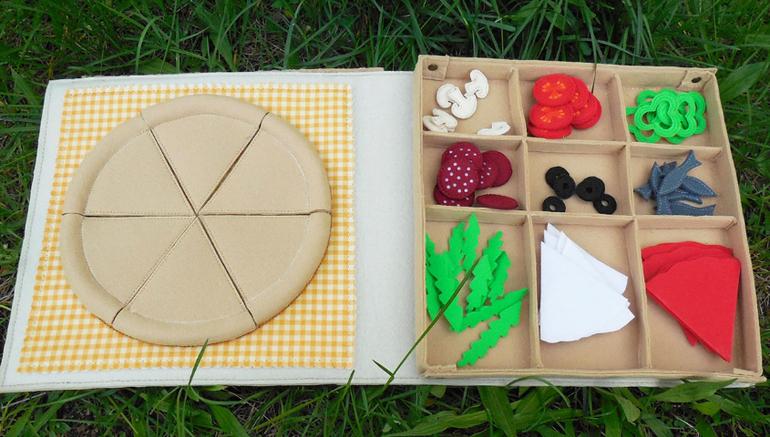 Как сшить пиццу из ткани 56