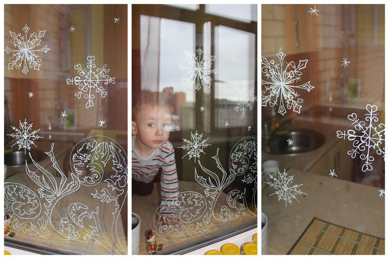 Фото узоры на окне