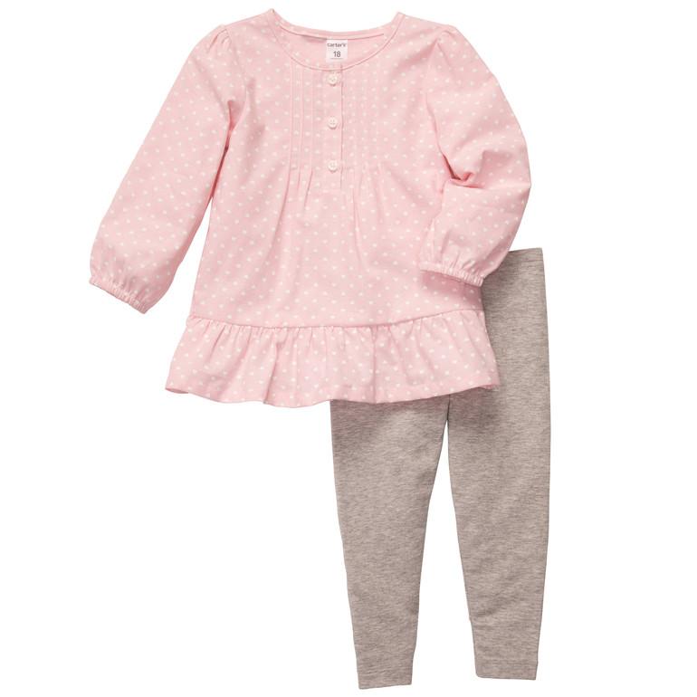 Carters комплект с нежной розовой блузкой