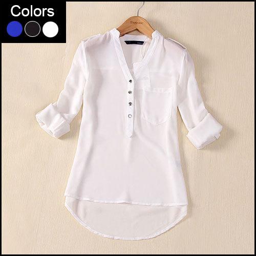 Блузки Рубашки Жен Большим