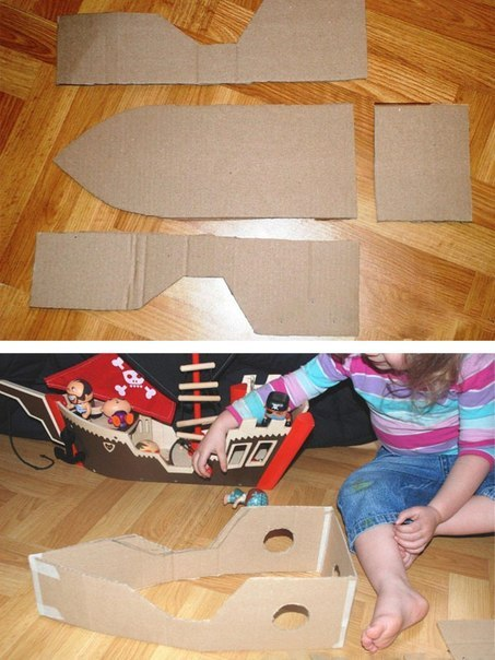 Как из картона сделать кораблик