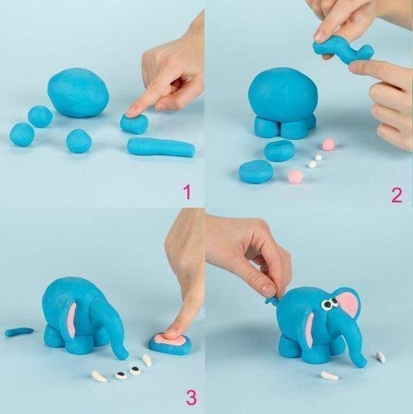 Учимся  лепить  из  пластилина