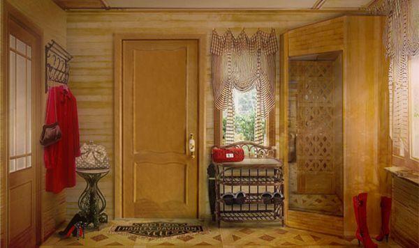 Дизайн прихожей в деревенском доме
