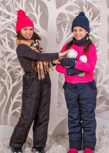 ПИАР Черные зимние полукомбезы на девочек. И другие цвета.
