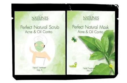 2 в 1. Скраб + Маска с зеленым чаем для проблемной кожи.