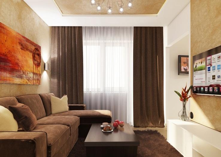 Бежево коричневые интерьеры квартир фото