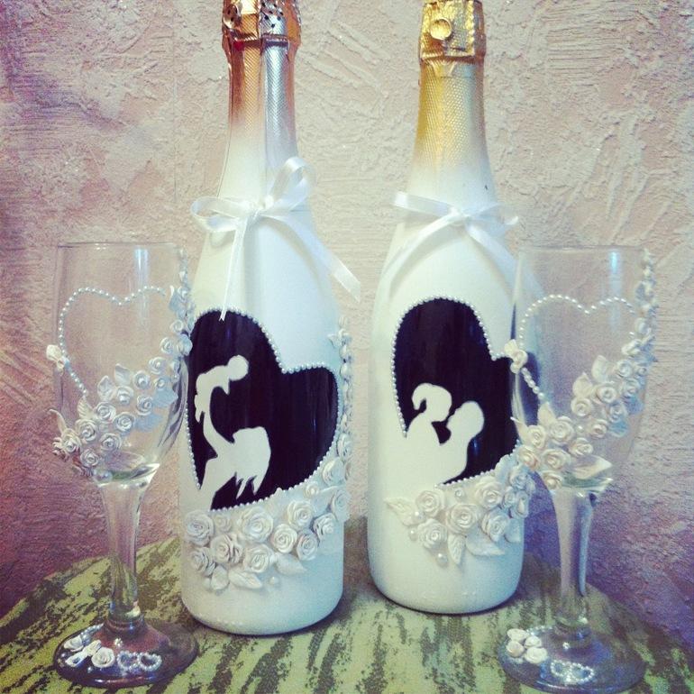 bb5b4b44c832da9 Свадебное шампанское, бокалы и подушечка для колец - запись ...