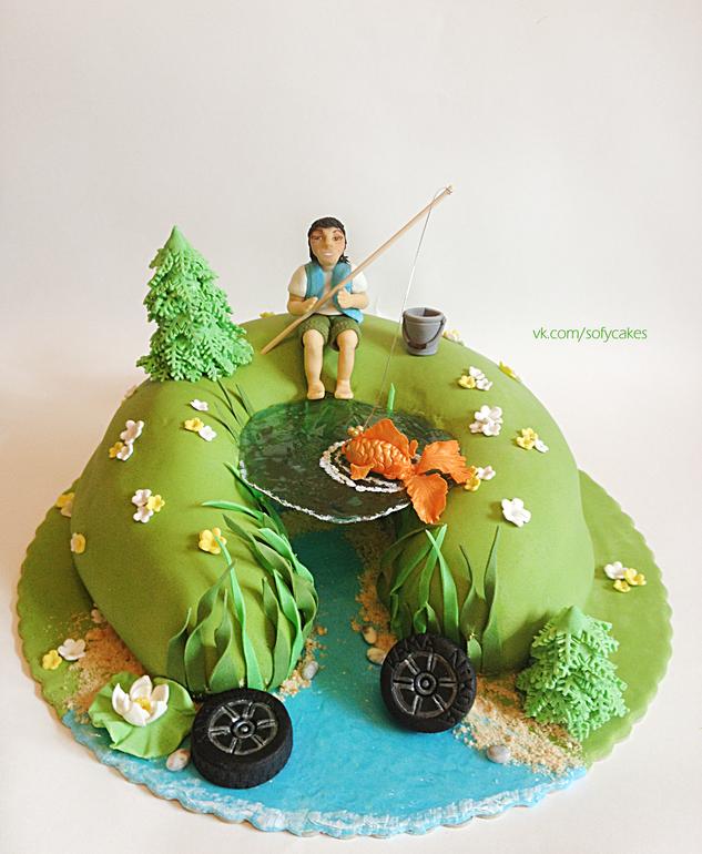 вариант торта для рыбака